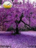 Purple Trees Mobile Theme