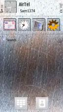Scratched Screen Mobile Theme