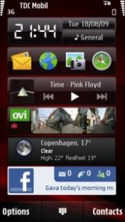 Red Theme Mobile Theme