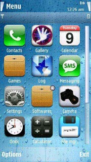Water Touch Mobile Theme