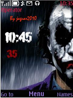 Joker Clock Mobile Theme