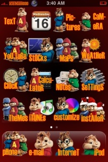 Iceman Chipmunks Apple IPhone Mobile Theme
