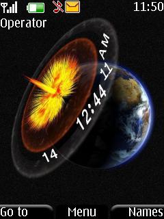 Planet Clock Nokia S40 Theme Mobile Theme