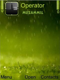 Beautiful Rain Theme Mobile Theme