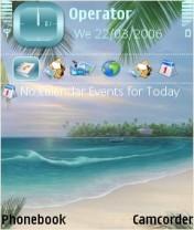 Beautiful Beach Nokia Theme Mobile Theme