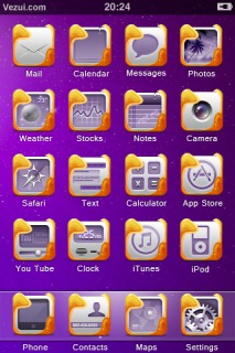 Purple IPhone Theme Mobile Theme