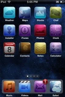 Space Camtessa Apple IPhone Theme Mobile Theme