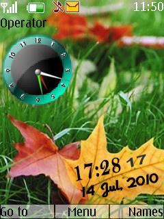 Leaf Clock Nokia Theme Mobile Theme