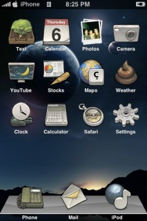 Light Moon IPhone Theme Mobile Theme