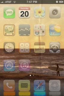 Hollister Beach IPhone Theme Mobile Theme