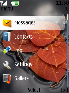Abstract Leaf Theme Mobile Theme