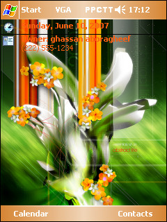 Abstract Nature Flower Theme Mobile Theme