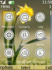Yellow Flower Theme Mobile Theme