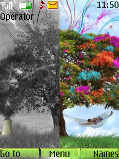 Beautiful Nature Theme Mobile Theme