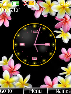 Flower Clock Theme Mobile Theme