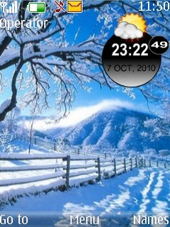 Winter Theme Mobile Theme