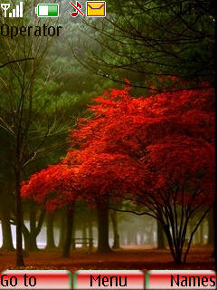 Beautiful Red Trees Theme Mobile Theme