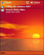 Red Sunset Theme Mobile Theme