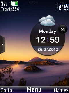 Mountain Clock Theme Mobile Theme