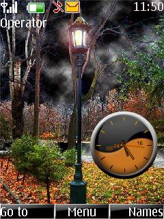 Nature Clock Theme Mobile Theme