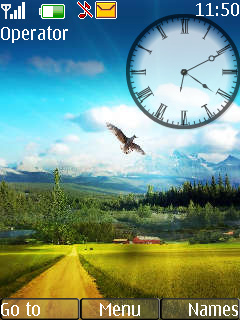 Nokia Nature Clock Theme Mobile Theme