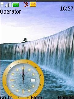 Waterfall Clock Tone Theme Mobile Theme