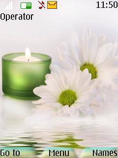 White Flower Mobile Theme