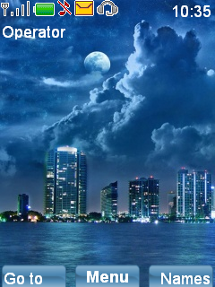 City At Night Mobile Theme