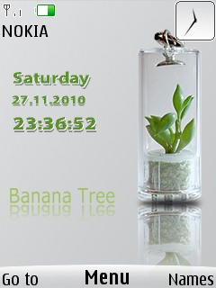 Banana Tree Clock Theme Mobile Theme