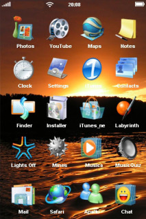 Microsoft Sunset Mobile Theme