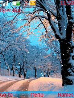 Winter Tree Theme Mobile Theme