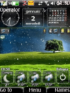 Animated Vista Clock Mobile Theme