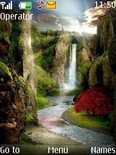 Waterfalls Beauty Mobile Theme