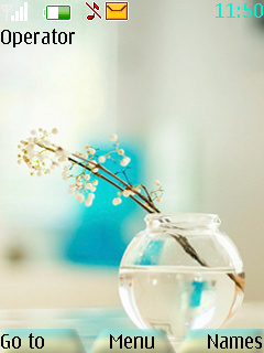 Crystal Flower Mobile Theme