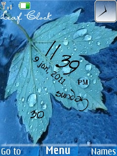 Leaf Clock Mobile Theme