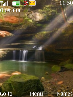 Amazing Waterfall Mobile Theme
