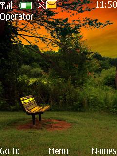 Alone Bench Mobile Theme