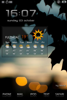 Dbar Dark Leafs Mobile Theme