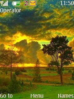 Heaven Green Nature Mobile Theme