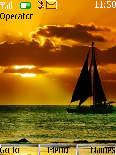 Sailing Sunset Mobile Theme