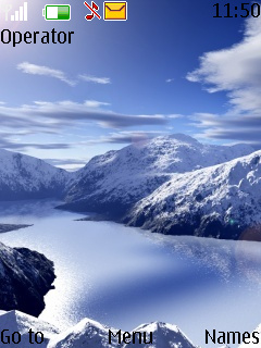 Snowy Mountain Mobile Theme