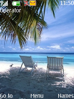 Chair At Beach Mobile Theme