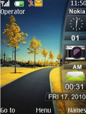 Way Clock Mobile Theme
