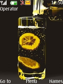 Lemon Drink Mobile Theme