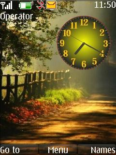 Autumn Clock Mobile Theme