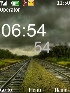 Amazing View Clock Mobile Theme