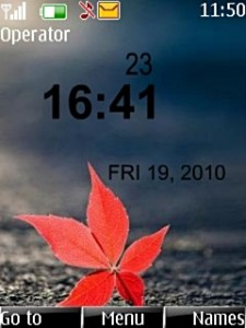 Alone Leaf Mobile Theme
