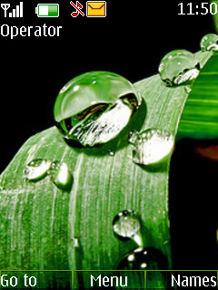 Water Drops Mobile Theme