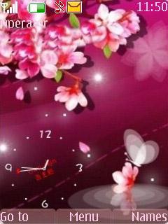 Wonderful Clock Mobile Theme