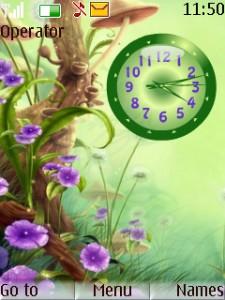 Nature Clock Mobile Theme